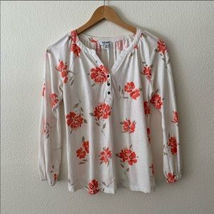 Old Navy Floral Print Blouse